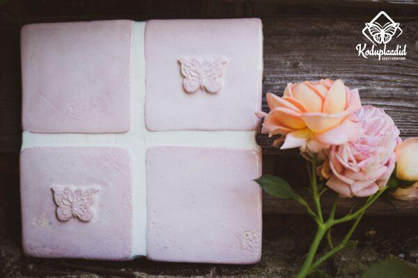 Seinaplaat LIBLIKAS roosa